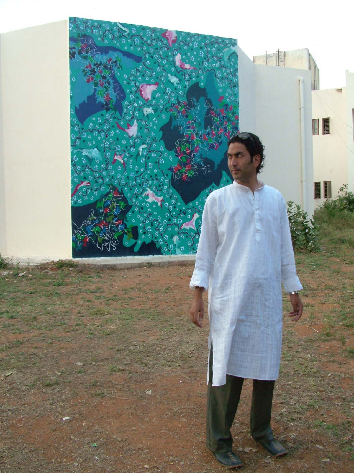 Galactic Snow (2005) Science Complex, University of Hyderabad, 5.3H x 4.1W meters, Hyderabad (India)