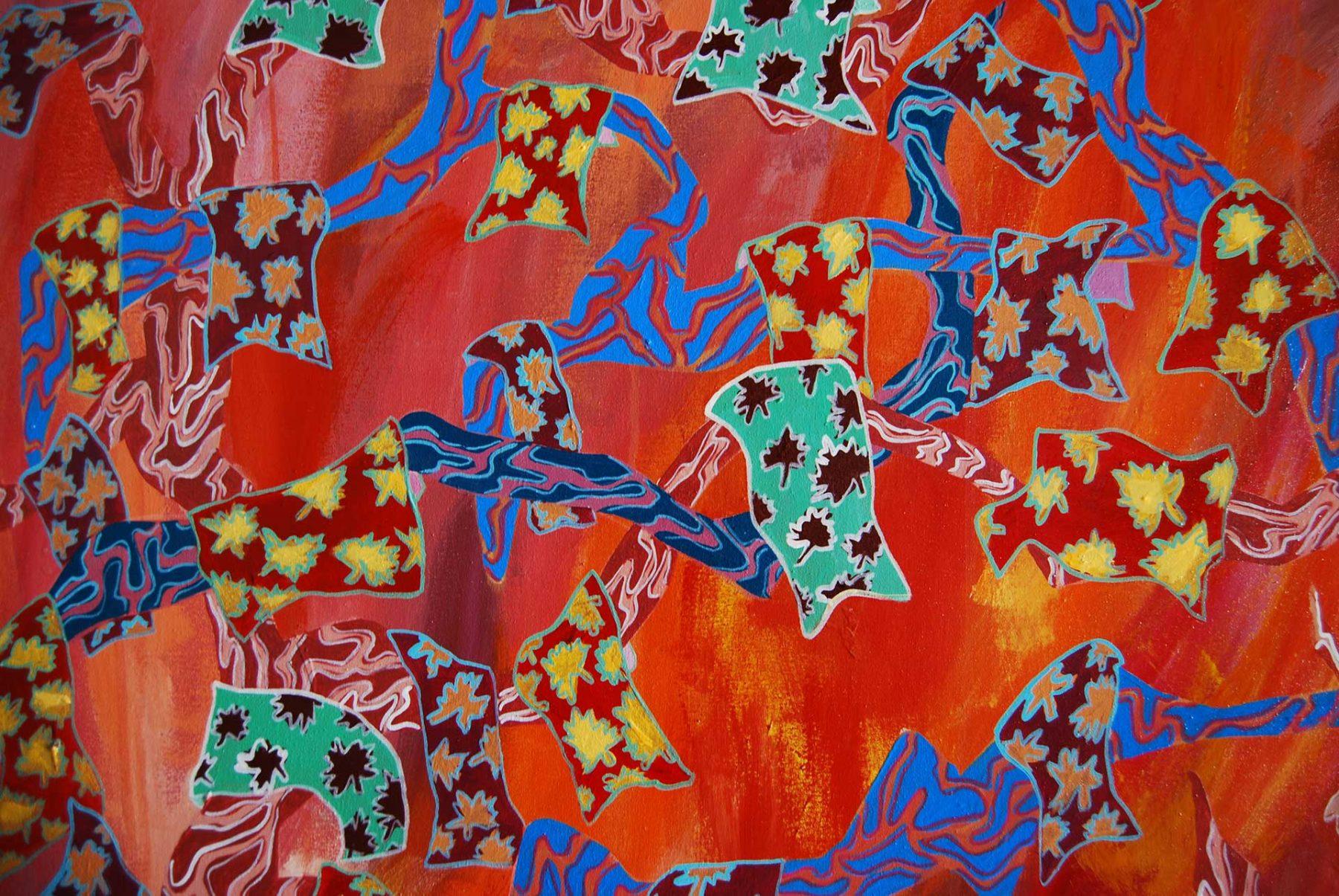 Autumn Maghrib Landscape, detail 1