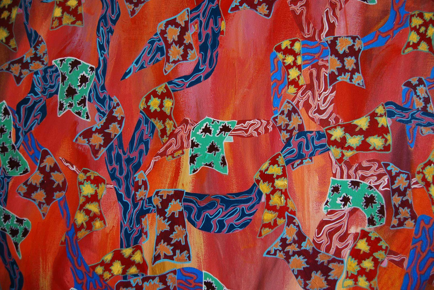 Autumn Maghrib Landscape, detail 2