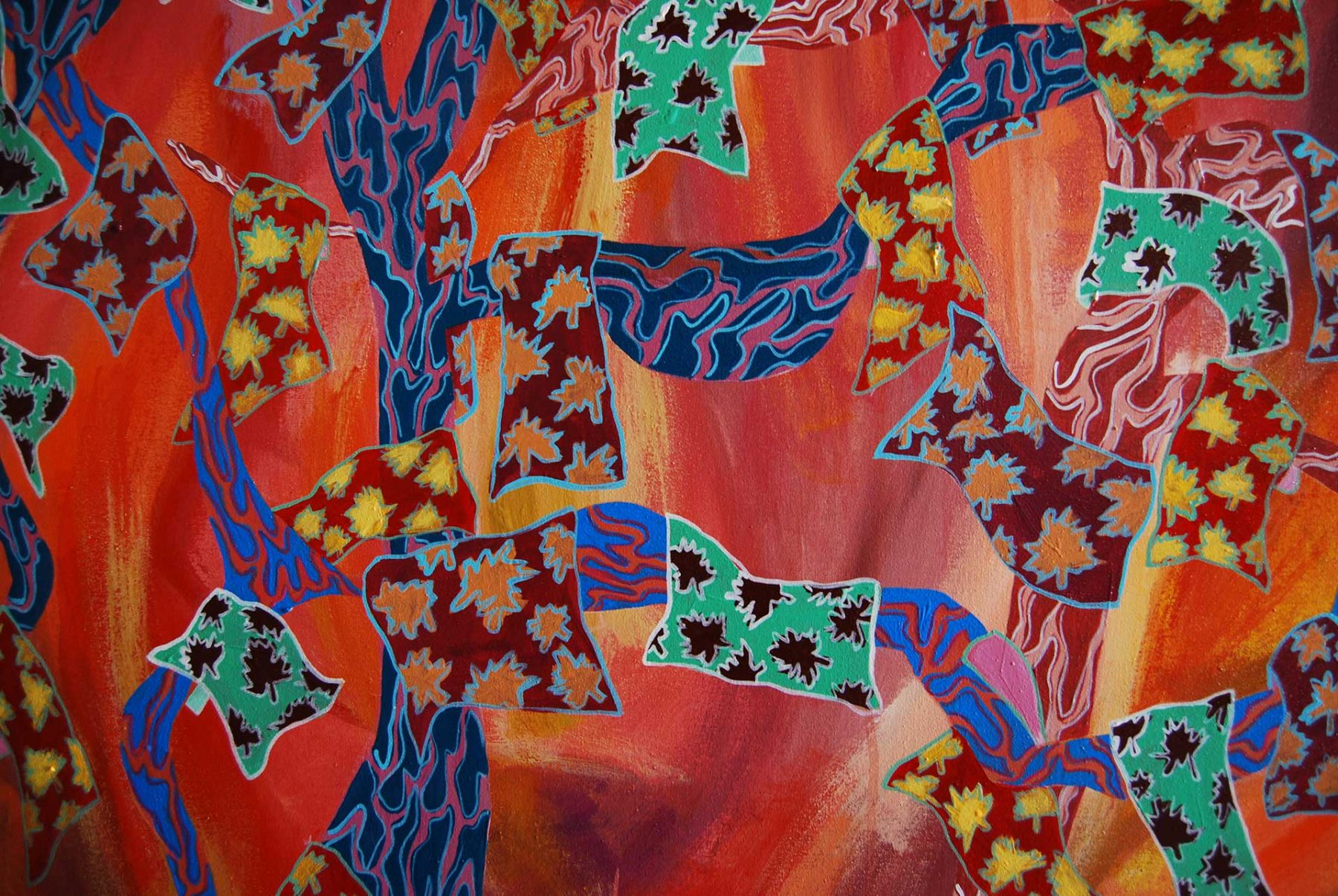 Autumn Maghrib Landscape, detail 3