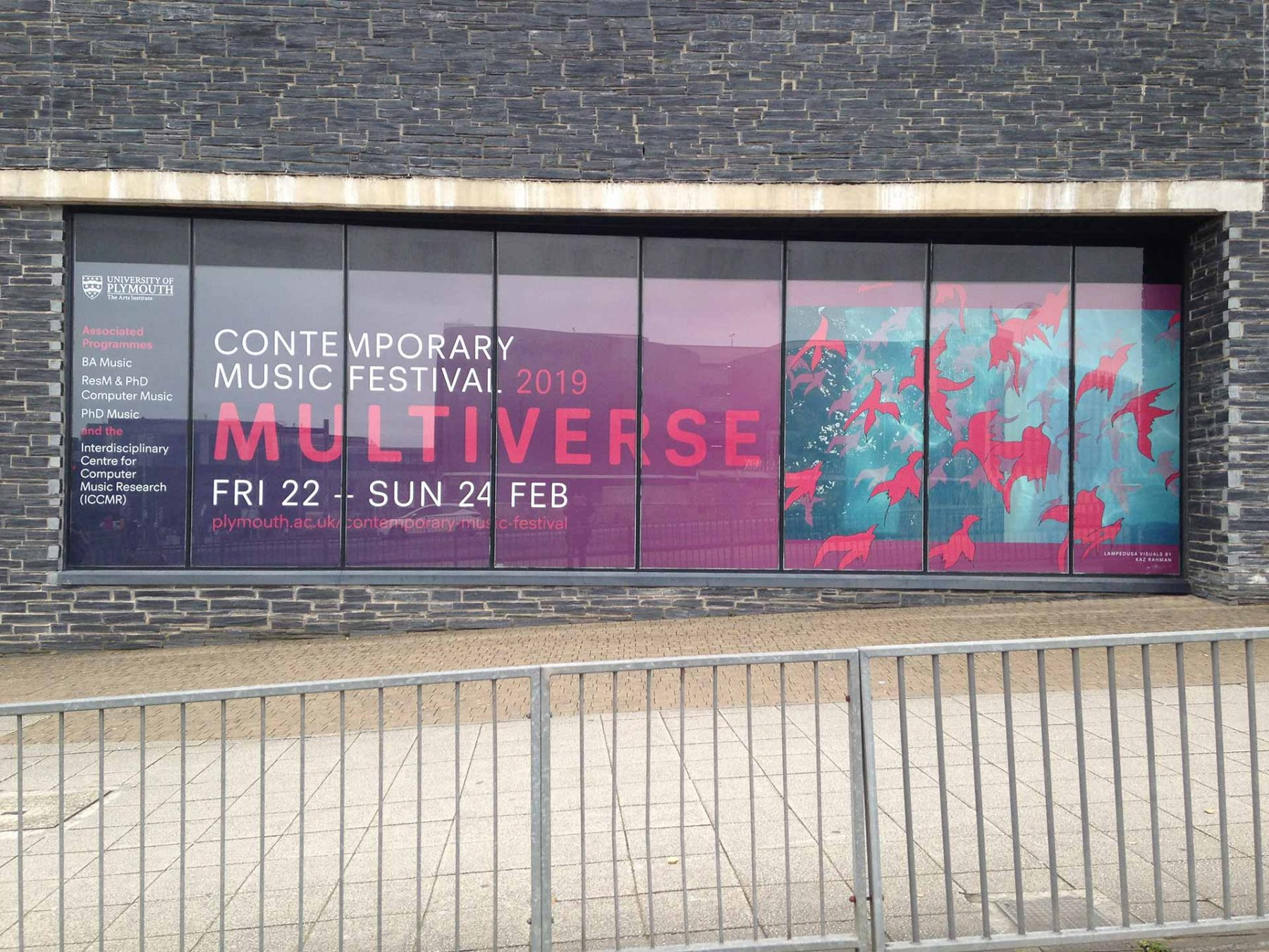 Multiverse Contemporary Music Festival (2019), Roland Lewinsky Building, University of Plymouth, UK