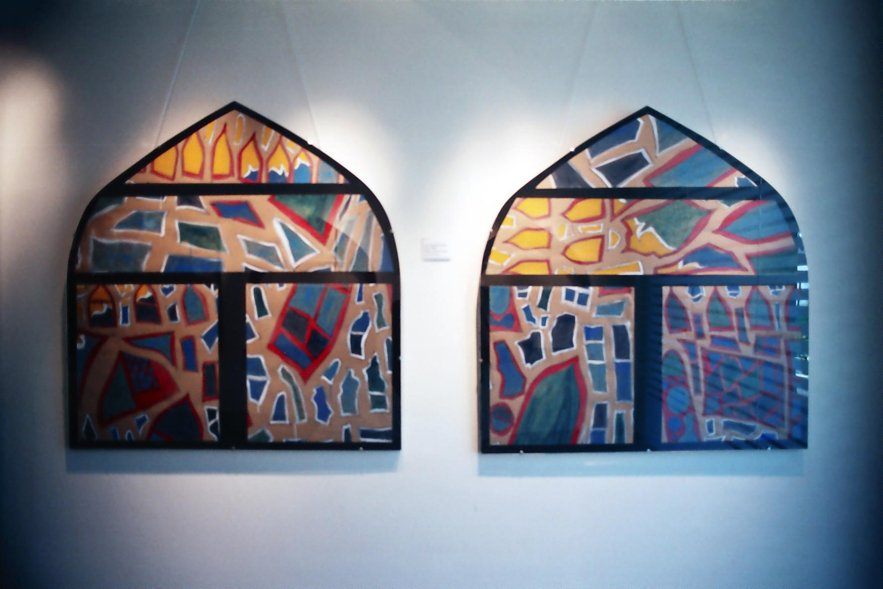 Apartment Building (2007) acrylic on canvas (2 pieces) 1.22H x 2.29W meters