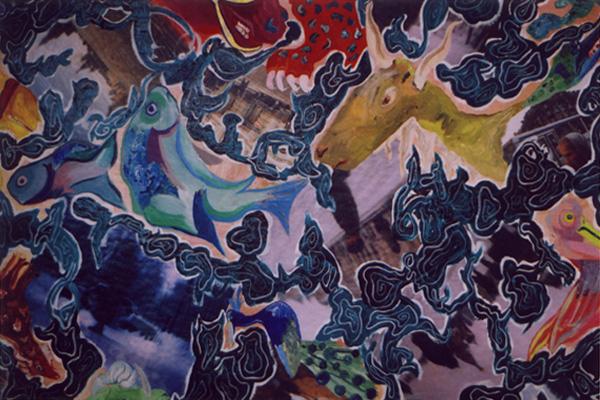 Drifting with the Dragon (Homage to Hamzanama) (2003) detail 3