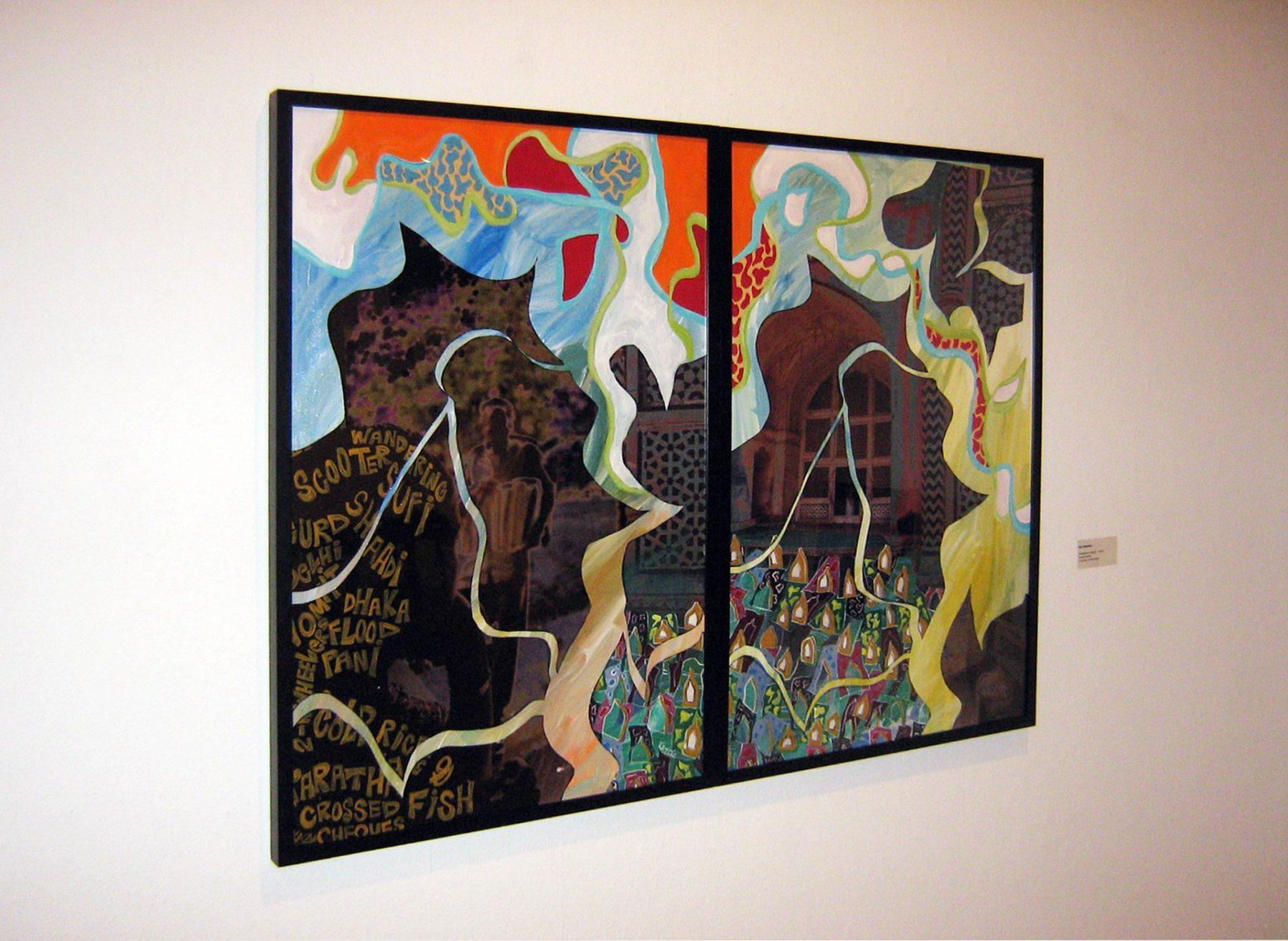 Tombstone Poetry (2009) mixed media